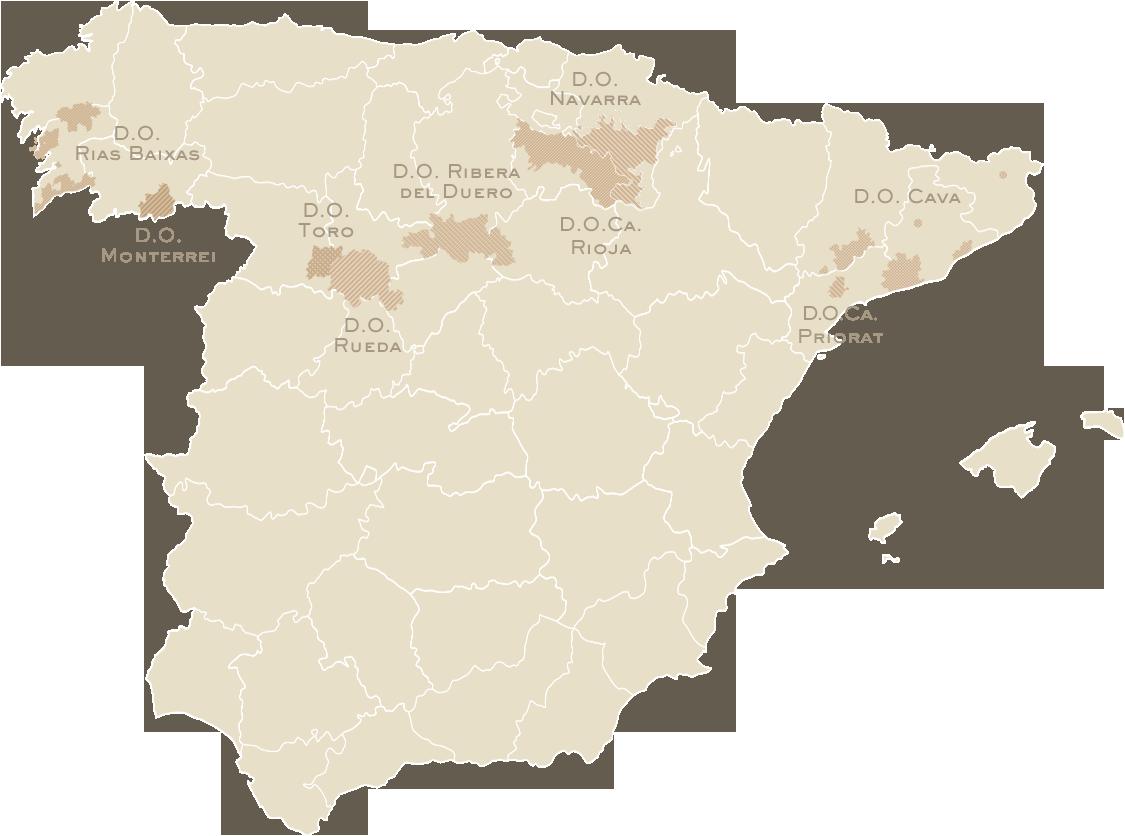 Zonas de viñedos en España